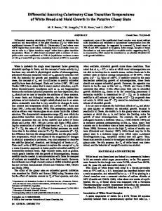 Differential Scanning Calorimetry Glass ... - Wiley Online Library