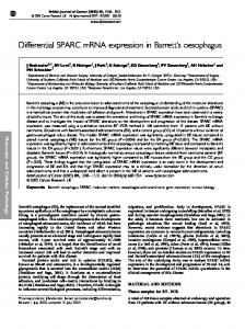 Differential SPARC mRNA expression in Barrett's oesophagus