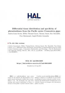 Differential tissue distribution and specificity of phenoloxidases ... - Hal