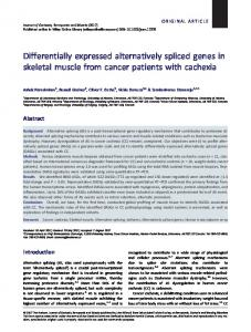 Differentially expressed alternatively spliced ... - Wiley Online Library