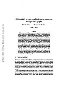 Differentially private graphical degree sequences and synthetic graphs