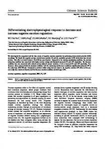 Differentiating electrophysiological response to ... - Springer Link