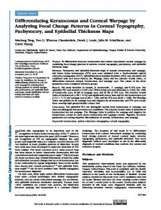 Differentiating Keratoconus and Corneal Warpage ... - Semantic Scholar
