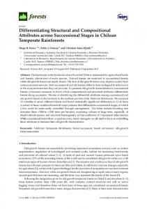 Differentiating Structural and Compositional Attributes across ... - MDPI