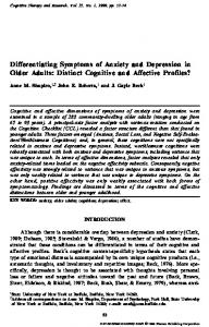 Differentiating Symptoms of Anxiety and ... - Semantic Scholar