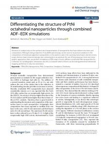Differentiating the structure of PtNi octahedral nanoparticles through ...