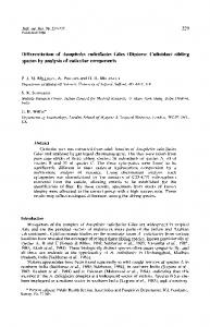 Differentiation of anopheles culicifacies Giles (Diptera: Culicidae ...