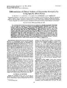 Differentiation of Clinical Isolates of Entamoeba histolytica by