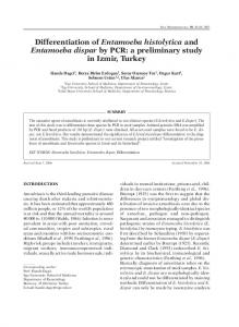 Differentiation of Entamoeba histolytica and ... - New Microbiologica