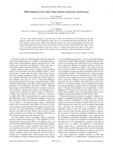 Differentiation of tin oxides using electron energy ... - APS Link Manager