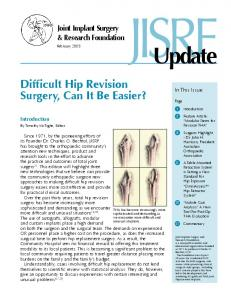 Difficult Hip Revision Surgery, Can It Be Easier? - Joint Implant ...