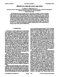 Diffraction from anisotropic random rough surfaces - Rensselaer ...