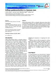 Diffuse panbronchiolitis - Wiley Online Library