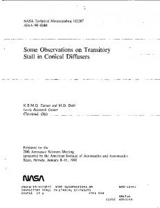 Diffusers - NASA Technical Reports Server (NTRS)