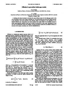 Diffusion in generalized lattice-gas models