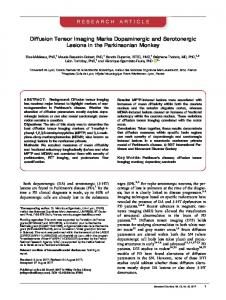Diffusion Tensor Imaging Marks Dopaminergic ... - Wiley Online Library