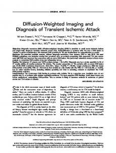Diffusionweighted imaging and diagnosis of ... - Wiley Online Library