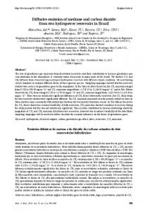 Diffusive emission of methane and carbon dioxide from two ... - SciELO