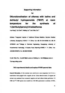 Difunctionalization of alkenes with iodine and tert ... - Beilstein Journals