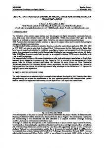 digital and analogue optoelectronic links for intrasatellite ...