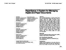 Digital and Paper Documents - ACM Digital Library