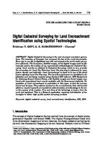 Digital Cadastral Surveying for Land Encroachment Identification ...
