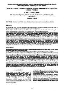 digital camera calibration using images taken from ... - ISPRS Archives
