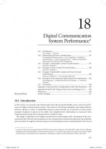 Digital Communication System Performance