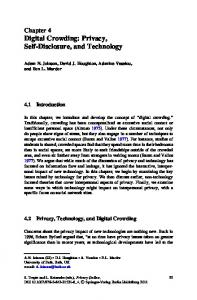 Digital Crowding: Privacy, Self-Disclosure, and Technology