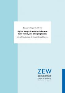 Digital Design Protection in Europe: Law ... - FTP Directory Listing - ZEW