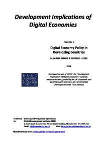 Digital Economy Policy in Developing Countries - WordPress.com
