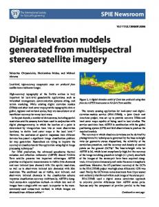 Digital elevation models generated from multispectral stereo satellite