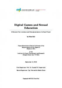 Digital Games and Sexual Education
