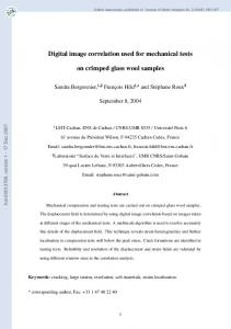 Digital image correlation used for mechanical tests on crimped glass ...