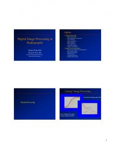 Digital Image Processing in Radiography