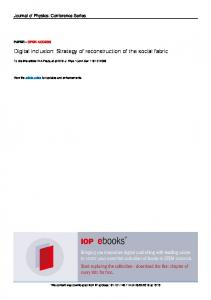Digital inclusion: Strategy of reconstruction of the