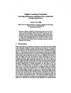 Digital Learning Projection - DSpace Open Universiteit