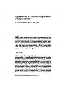 Digital Libraries and Document Image Retrieval ... - Semantic Scholar