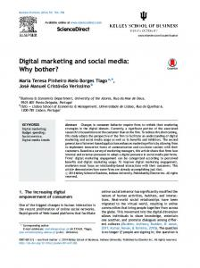 Digital marketing and social media: Why bother?