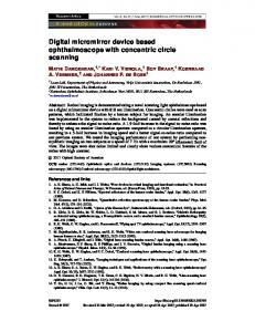 Digital micromirror device based ophthalmoscope ... - OSA Publishing