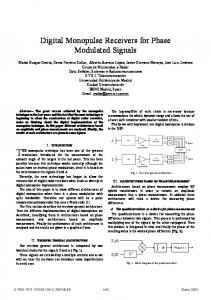 Digital Monopulse Receivers for Phase Modulated Signals