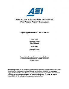 Digital opportunities for civic education - Civic Engagement Research ...