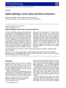 Digital pathology: current status and future ... - Wiley Online Library
