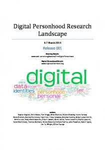 Digital Personhood Research Landscape - Well Sorted