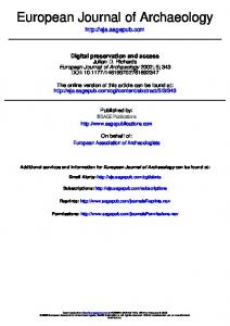 DIGITAL PRESERVATION AND ACCESS