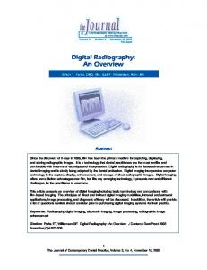 Digital Radiography: An Overview