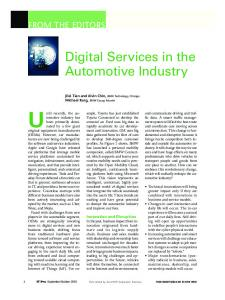 Digital Services in the Automotive Industry