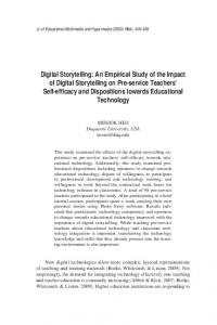 Digital Storytelling: An Empirical Study of the Impact of ... - LearnTechLib