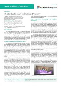 Digital Technology in Implant Dentistry