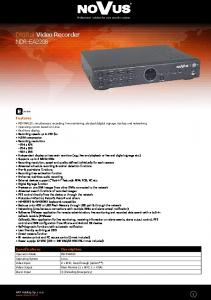 Digital Video Recorder NDR-EA2208
